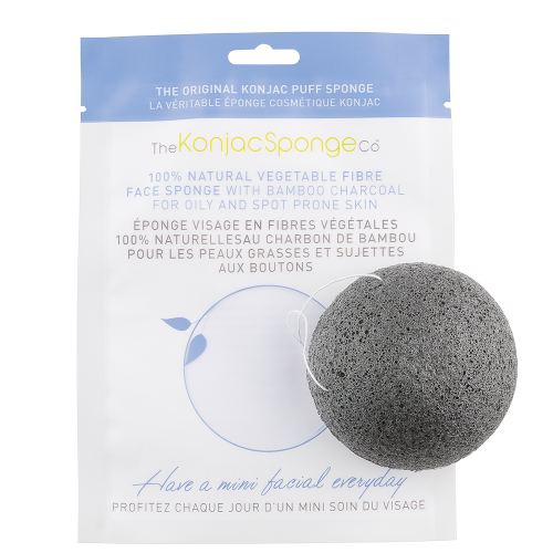 Konjac Sponge with Bamboo Charcoal